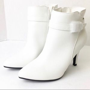 Me Too White Ankle Booties